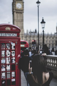 People, Woman, Telephone, Booth, Architecture, Building