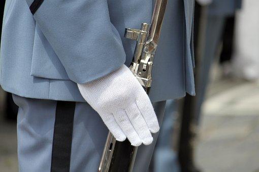 Guard, Bayonet, Close Up, Hand, White Glove, Uniform