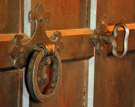 Handle, Door, Medieval, Castle, Entry, Ring, Key
