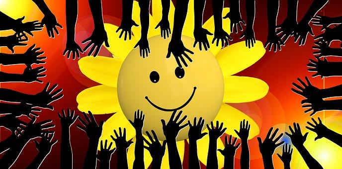 Sun, Sun Flower, Luck, Community, Friends, Globe