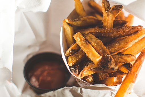 Fries, Potato, Fried, Salt, Sauce