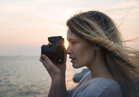 Beach, Camera, Freedom, Girl, Hobby, Holiday, Leisure