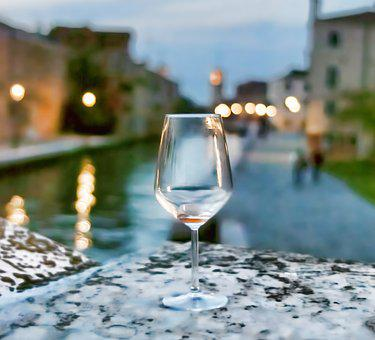 Venice, Italy, Wine, Glass, Water, Europe, Italian