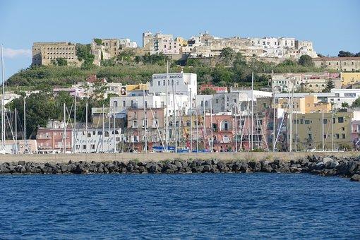 Procida, Ischia, Italy, Old Town, Historically, Island