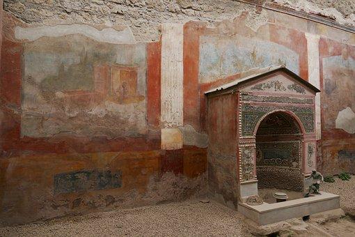 Pompeii, Italy, Naples, Antiquity, Image, Fresco