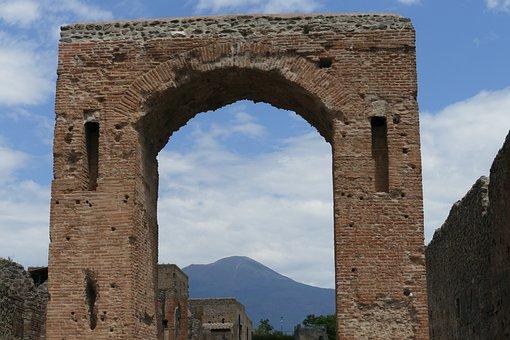 Pompeii, Italy, Naples, Antiquity, Columnar