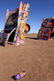 Cadillac Ranch, Texas, Cars, Junk, Graffiti, Rusty