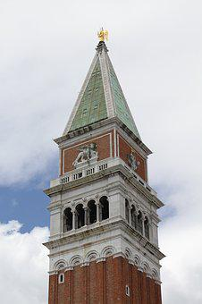 Venice, Venezia, Italy, Tower, Ancient, Europe
