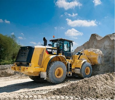 Wheel Loader, Cat, 966m, Pile, Loading, Caterpillar
