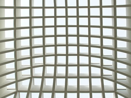 Abstract, Ceiling, Geometry, Interior, White, Design