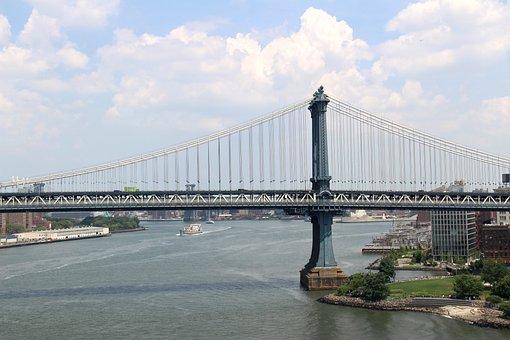 Benjamin Franklin Bridge, Nyc, America, Us, Manhattan