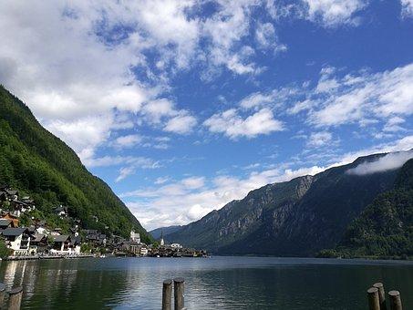Hallstatt, Austria, Upper Austria, Blue Sky