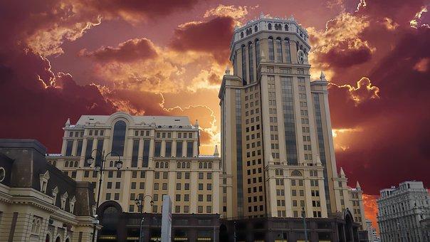 Building, Sun, Architecture, City, Sky, Business, Urban