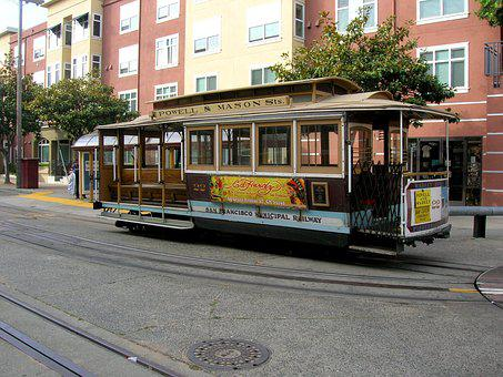 Transport, Traffic, San Francisco, Cable Car, Retro