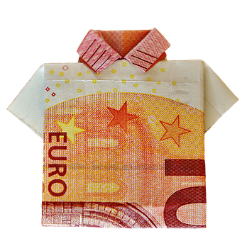 The Last Shirt, Dollar Bill, 10 Euro, Folded, Gift