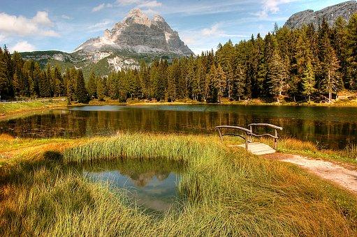 Three Zinnen, Dolomites, Mountains, Alpine, Italy