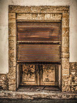 Door, Old, Rusty, Shop, Entrance, Architecture, Gate
