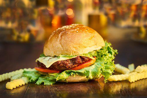 Burger, Food, Restaurant, Beautiful, Healthy Food