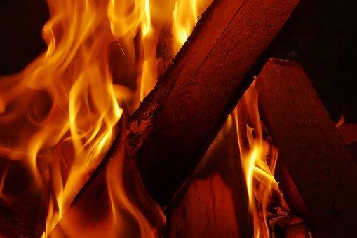 Fire, Wood, Night, Flame, Hot, Dark, Glow, Campfire