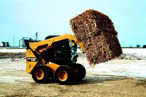 Wheel Loader, Loader, Compact Loader, Cat, 242d, Pile