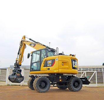 M315f, Hydraulic, Excavators, Short Tail, Short, Rear