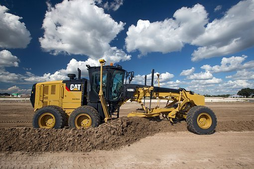Grader, Mining Vehicle, Cat, Caterpillar, 120m