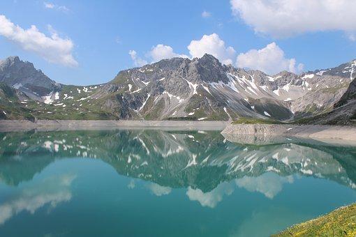 Lake, Bergsee, Mountains, Landscape, Alpine, Nature