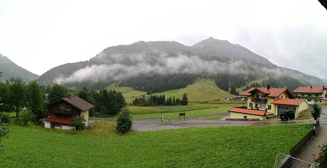 Alps, Mountains, Clouds, Tyrol, Austria, Nature