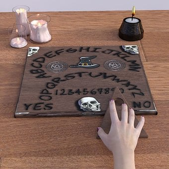 Witch Board, Occultism, Necromancy, Ghosts, Survey