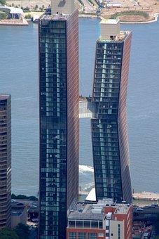 Crooked, Building, Us, Nyc, Landmark, Modern, Cityscape