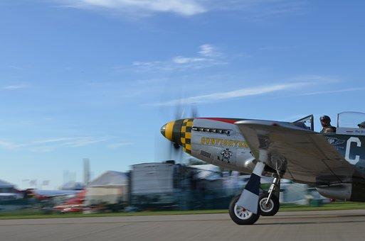 Aircraft, P51, Fighter, Mustang, War, Aviation