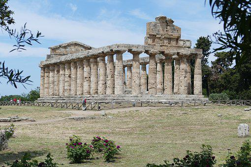 Paestum, Italy, Antiquity, Ruin, Places Of Interest