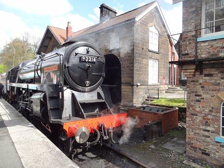 Steam Train, Steam Engine, Train Station