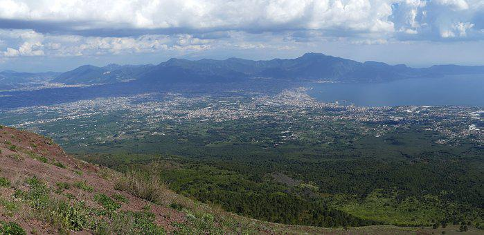 Vesuvius, Volcano, Naples, Italy, Mountain, City
