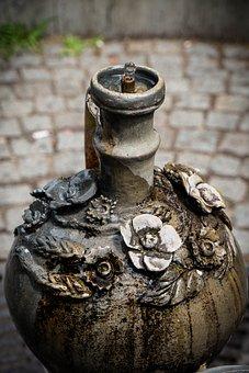 Krug, Fountain, Water Jet, Drop Of Water, Water, Drip