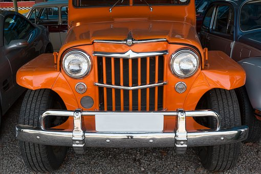 Motor Car, Grille, Willys Jeep, Station Wagon, 4x4