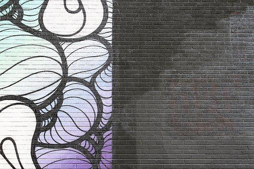 Wall, Bricks, Paint, Pattern, Black, Art, Abstract