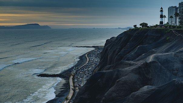 Sea, Ocean, Water, Wave, Coast, Beach, Aerial, View