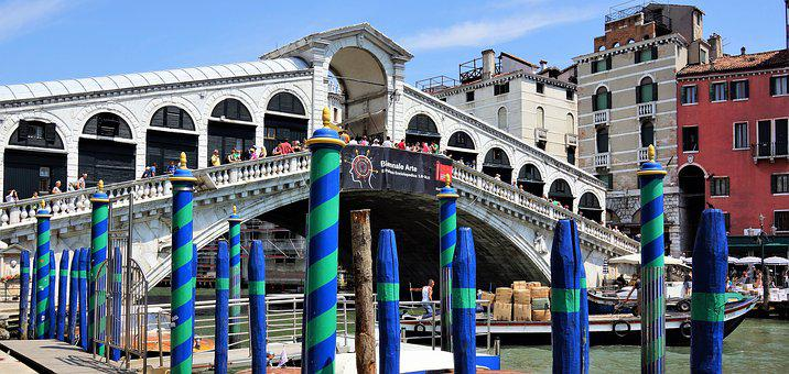 Venice, Rialto, Bridge, Italian, Architecture, Landmark