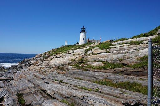 Lighthouse, Maine, Coastline