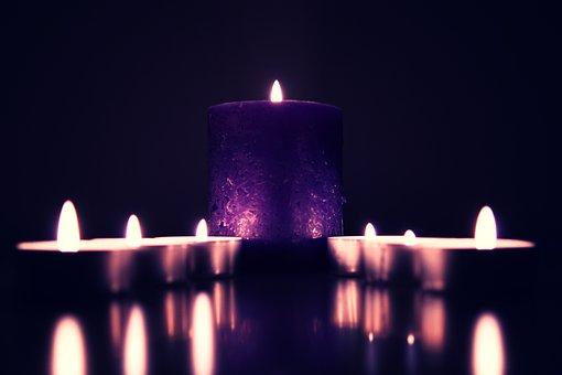 Dark, Candle, Light, Fire, Night, Blur, Flame
