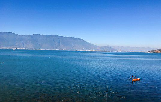 Erhai Lake, In Yunnan Province, Double-gallery, Sea