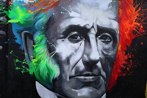 Murals, Lecco, Alessandro Manzoni, Street Art, Face