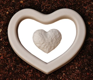 Heart, Gypsum, Blanks, Unpainted, White, Love