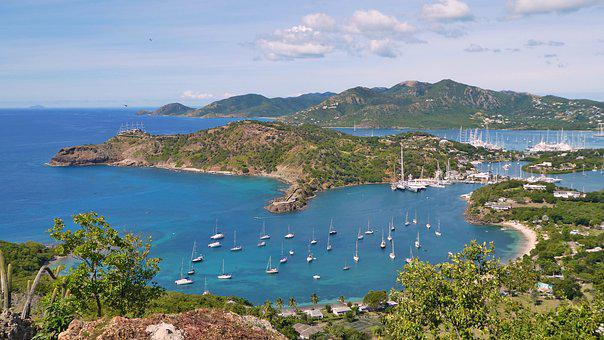 Caribbean, Antigua, Port, Ship, Sea, Booked