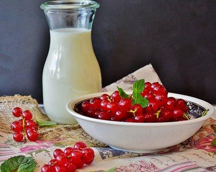 Milk, Berries, Currant Shake, Milkshake, Drink