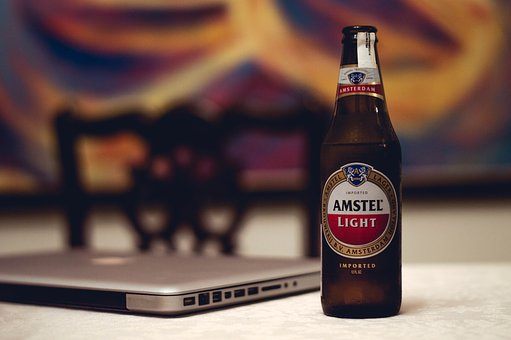 Amstel, Brewery, Beverage, Laptop, Computer, Electronic