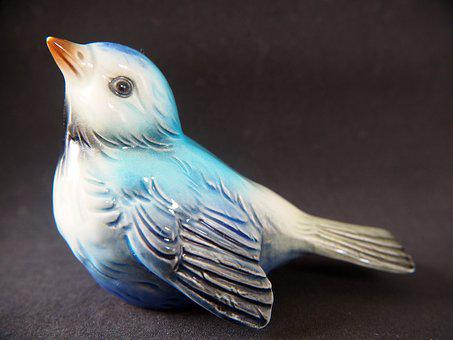 Bird, Ceramic, Vintage, Figure, Decoration, Deco, Cute