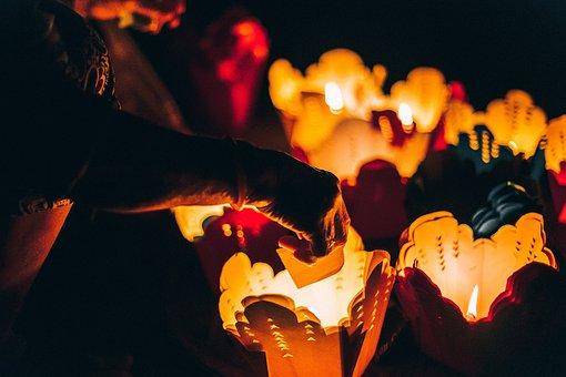 Candle, Dark, Lights, Cover, Heat, Bokeh