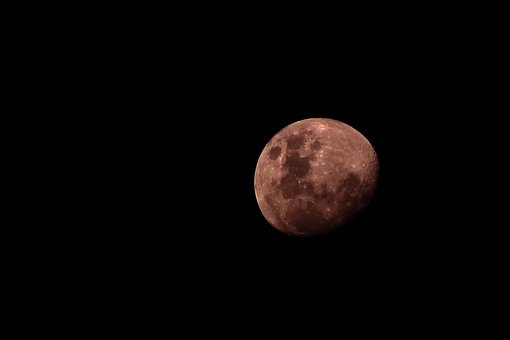 Full, Moon, Dark, Night, Creepy